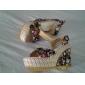 Heel Wedge ouvert Toe Sandales de tissu femmes (plus de couleurs)