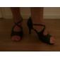 mătase arc curea Latină femei personalizate meciului / sală de bal pantofi de dans de performanță (mai multe culori)
