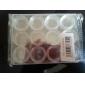 12-grille Effacer Nail Art outils de stockage de caisse de boîte en plastique (12,2 * 9,7 * 1,3)