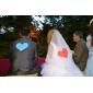 Voal de Nuntă Un nivel Voaluri Lungime Până la Vârfurile Degetelor Margine Tăiată 47.24 in (120cm) Tul Alb IvoriuA-line, Rochie de Bal,