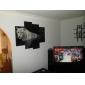 modern stil tiger väggklocka i canvas uppsättning av 4