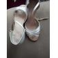 Chaussures de danse (Blanc) - Personnalisable - Talons personnalisés - Satin - Danse latine/Salle de bal