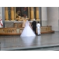 Ball Gown Plus Sizes Wedding Dress - Ivory Floor-length Strapless Tulle