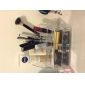 Rangement pour Maquillage Boîte de maquillage Rangement pour Maquillage Acrylique Couleur Pleine 17.3x9.3x6.6