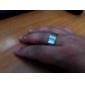 Rostfritt stål Fingerring Style Öl Vin Flasköppnare (20mm diameter) - Silver