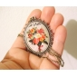 Flower Glass Necklace