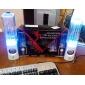 Högtalare i pelardesign med LED-belyst vatten