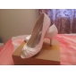 Women's Wedding Shoes Heels/Peep Toe Heels Wedding Black/Blue/Pink/Purple/Red/Ivory/White/Silver/Gold/Champagne