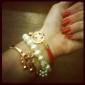 Tur Doll Dammode vilda pärla boll pärlstav armband