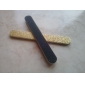 2-Pieces Light Gold + Black Emery Nail Art filer