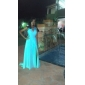 Homecoming Formal Evening/Military Ball Dress - Black Plus Sizes A-line/Princess Jewel Sweep/Brush Train Chiffon/Sequined