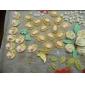 Tre hål Figur Silikon Mögel Fondant Formar Sugar Craft Verktyg Harts blommor Mould formar för kakor