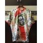 Kooplus-Mens Short Sleeve Clcying Jersey with 100% Polyester (Skulls)