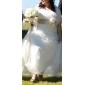 Sheath/Column Plus Sizes Wedding Dress - Ivory Court Train Strapless Organza