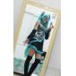 Inspirado por Vocaloid Hatsune Miku Vídeo Jogo Fantasias de Cosplay Ternos de Cosplay Vestidos Miscelânea Preto Azul Púrpura Sem Mangas