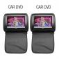 """9 """"reproductores de DVD del apoyo para la cabeza del coche con TV, juegos (1 par)"""