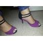 Kundanpassade Kvinnors mockaskinn ankelbandet Latin / Ballroom Dance Shoes (Fler färger)