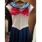 sailor moon bleu et blanc spandex uniforme marin (taille unique)
