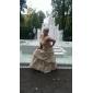 Robe de Demoiselle d'Honneur en Taffetas Sans Bretelles
