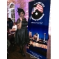 Linia -A Bijuterie Lungime Genunchi Dantelă Petrecere Cocktail Venire Acasă Bal Rochie cu Buton Drapat de TS Couture®