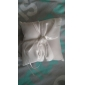 Simple Design Ring Pillow in Ivory Satin With Elegant Knot