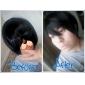 cosplay peluca inspirada en Ouran Host Club de la secundaria-nekozawa negro