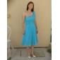 LARAINE - Kleid für Hochzeitsfeier und Brautjungfer aus Chiffon und Elastische Seide