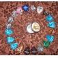 alice - (a011b) rundahackor stål låda med 20 hackor (slumpvis färg)