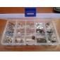 klar plast Nail Art spetsen förvaringslåda CASE-verktyg