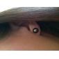 925 boucles d'oreille en argent sterling noir 6,5-7mm aa perle d'eau douce (dszz056)