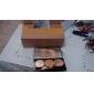3 couleurs 5en1 professionnel fondation correcteur blush poudre bronzante palette de maquillage cosmétique avec miroir et brosse ensemble