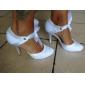 damskor rund tå stilett häl satin pumpar bröllop skor fler färger tillgängliga