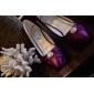 damskor rund tå stilett häl satin pumpar skor fler färger tillgängliga