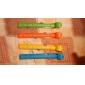 12cm färgglada mat vakuumtätning klipp med data märke (4-pack)