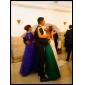 Lanting Bride Longueur Sol Organza / Satin Robe de Demoiselle d'Honneur  Fourreau / Colonne Sans BretellesPomme / Sablier / Triangle