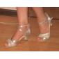 Kvinnors Sparkling Glitter Ankel Stripe Latin Dansskor Sandaler (fler färger)