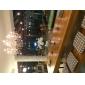 ljuskrona kristall lyxiga moderna två nivåer bor 12 lampor