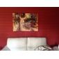 Peint à la main Abstrait Trois Panneaux Toile Peinture à l'huile Hang-peint For Décoration d'intérieur