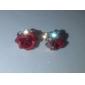 De înaltă calitate din aliaj de aur 18K placat cu Cubic Zirconia Rose Stud Cercei