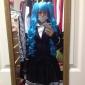 Inspiré par Vocaloid Hatsune Miku Vidéo Jeu Costumes de cosplay Costumes Cosplay / Robes Couleur Pleine Noir Manche LonguesManteau /