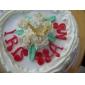 Tre hål Bowknot Oval silikonform Fondant Formar Sugar Craft Verktyg Harts blommor Mould formar för kakor