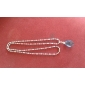 Sword Art Online Asuna Yuuki blue Crystal Alloy Chain Cosplay Necklace