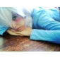 Cosplay Peruker Gintama Gintoki Sakata Vit Kort Animé Cosplay Peruker 30 CM Värmebeständigt Fiber Man