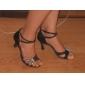 Escarpins Ouverts de Danse à Brides Croisées et Strass
