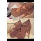 Flocking Women's Stiletto Heel Platform Booties/Ankle Boots (More Colors)