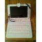 10 Inch Mesh Stripe Mönster PU läderfodral med USB-tangentbord och stativ