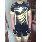 SPAKCT Short Sleeve Breathable Men Cycling suit (Jersey+shorts) Polyester+Polyamide+Spandex