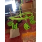Grön plast 8 Smile Groda Clips runt skal Scarf Handduk Handskar Hängande klädnypa