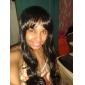 Cosplay Peruker RWBY Blake Belladonna Svart Medium Animé Cosplay Peruker 70 CM Värmebeständigt Fiber Kvinna