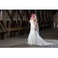 웨딩 드레스 - 아이보리(색상은 모니터에 따라 다를 수 있음) 트럼펫/멀메이드 채플 트레인 스윗하트 오르간자 플러스 사이즈